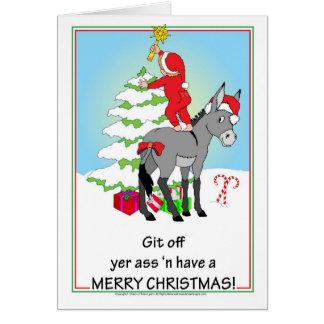 Weihnachtsesel Karte