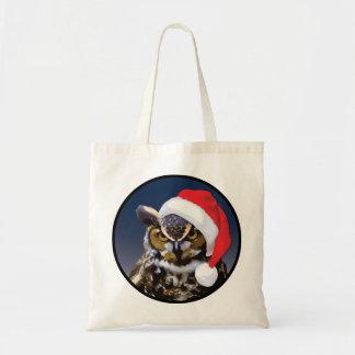 Weihnachtseule - Budget-Tasche Tragetasche