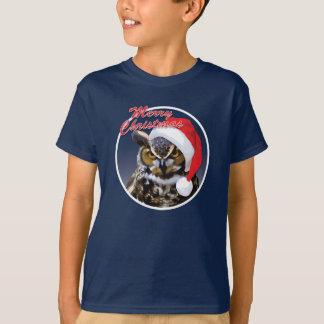 Weihnachtseule - grundlegender das Hanes der T-Shirt