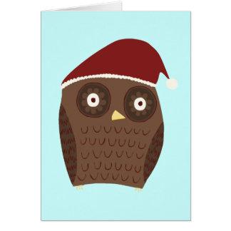 Weihnachtseule Grußkarte