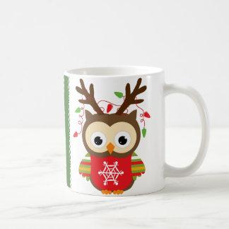 Weihnachtseule Kaffeetasse