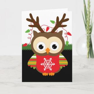 Weihnachtseule Weihnachtskarte