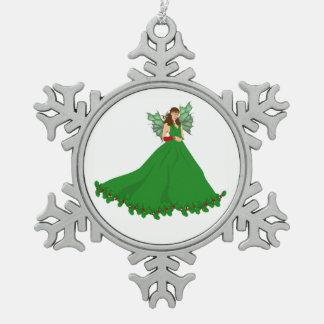 Weihnachtsfee-Dekoration Schneeflocken Zinn-Ornament