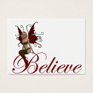 WeihnachtsFee glauben Entwurf 1 Visitenkarte