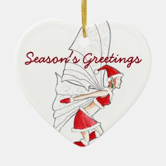 Weihnachtsfee Keramik Ornament