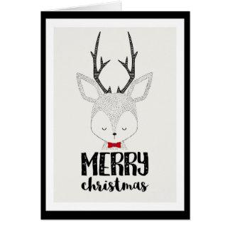 Weihnachtsfeiertag - niedliches Ren Karte