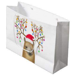 Weihnachtsfeiertags-Alpaka-Geschenk-Tasche Große Geschenktüte