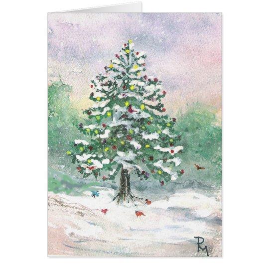 Weihnachtsfeiertags-Aquarell Grußkarte