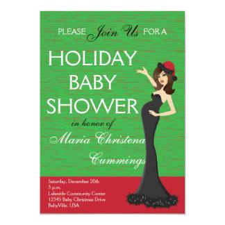 Weihnachtsfeiertags-Babyparty-Einladung Karte