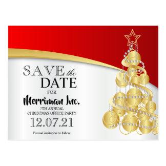 Weihnachtsfeiertags-Büro-Party Save the Date Postkarte