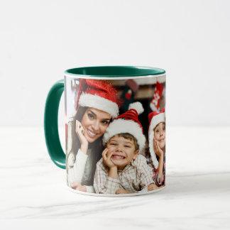 Weihnachtsfeiertags-Foto Tasse