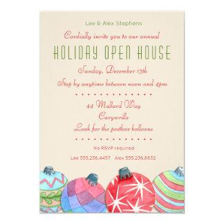 Weihnachtsfeiertags-offenes Haus-Party Einladung