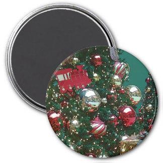 Weihnachtsfeiertags-Ordnung der Baum-Retro Magnet