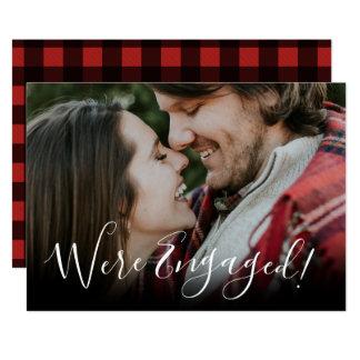 Weihnachtsfeiertags-Verlobungs-Mitteilung Karte
