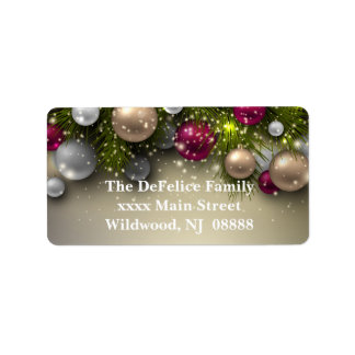 Weihnachtsfeiertags-Verzierungen - multi Adressaufkleber