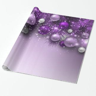 Weihnachtsfeiertags-Verzierungen - Purpur Geschenkpapierrolle