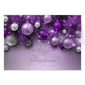 Weihnachtsfeiertags-Verzierungen - Purpur Karte