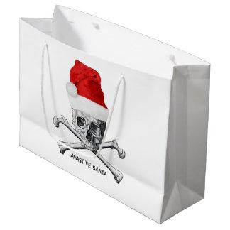 Weihnachtsfeiertags-Weihnachtsmannmütze-Schädel Große Geschenktüte