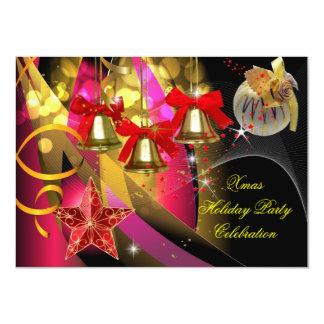 Weihnachtsfeiertags-WeihnachtsParty-Rosa-Goldrotes Karte