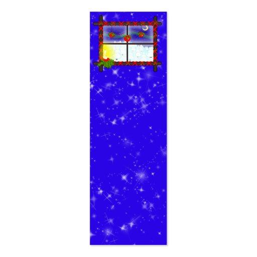 Weihnachtsfenster jumbo visitenkarten zazzle - Weihnachtsfenster vorlagen gratis ...