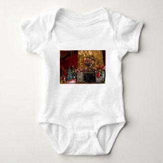 Weihnachtsfeuer-Platz-Szene Baby Strampler