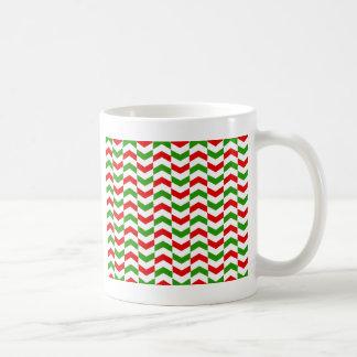 Weihnachtsfischgrätenmuster Kaffeetasse