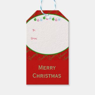 Weihnachtsflitter frohe Weihnachten Geschenkanhänger