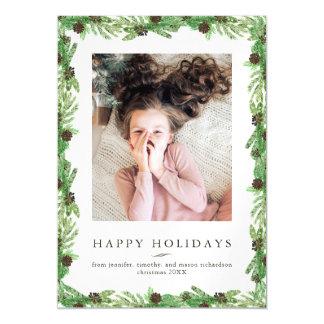 WeihnachtsFoto der Feiertags-Kiefern-  Magnetische Karte