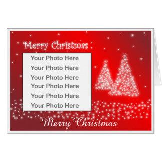 WeihnachtsFoto-Rahmen-Gruß-Karte Grußkarte