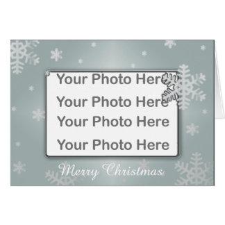 WeihnachtsFoto-Rahmen-Gruß-Karte Karte