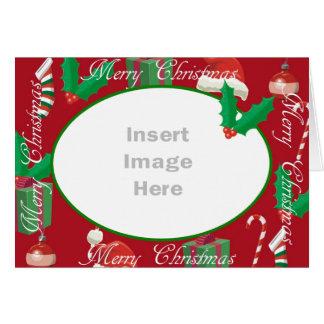 WeihnachtsFoto-Schablonenkarte Karte