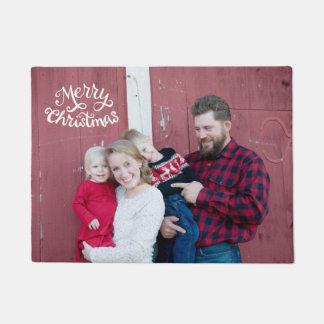 WeihnachtsFoto-Türmatte, Skripttypographie Türmatte