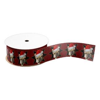 """Weihnachtsfranzösische Bulldoggen verfolgen 1,5"""" Ripsband"""