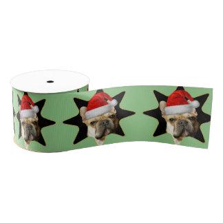 """Weihnachtsfranzösische Bulldoggen verfolgen 3"""" Ripsband"""