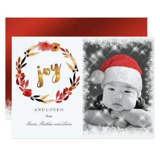 Weihnachtsfreude-Aquarell-Kranz ID292 Karte