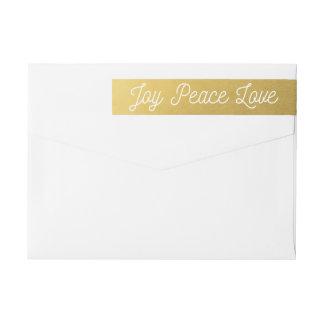 Weihnachtsfreude-FriedensLiebe-Gewohnheits-Gold