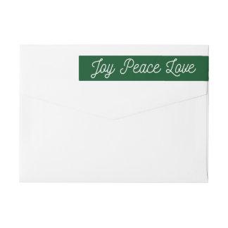Weihnachtsfreude-FriedensLiebe-Gewohnheits-Grün