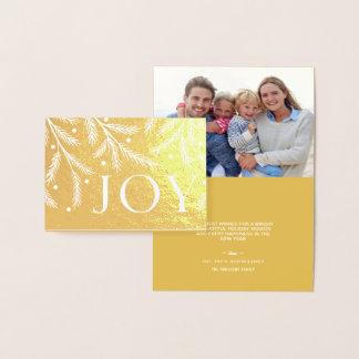 Weihnachtsfreude-Goldfolien-Feiertags-Baumaste Folienkarte