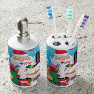 Weihnachtsfreund-Seifen-Zufuhr und Zahnbürste Seifenspender