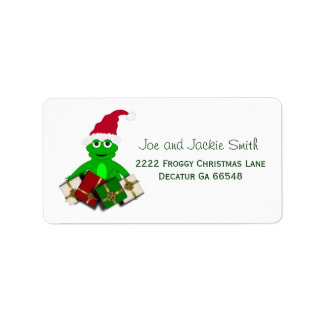 Weihnachtsfrosch-Adressen-Etiketten Adressaufkleber