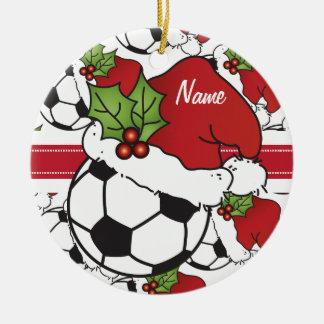 WeihnachtsFußball   personifizieren Keramik Ornament