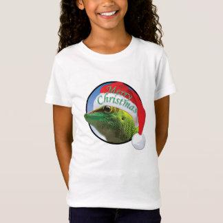 WeihnachtsGecko - der Bella der Mädchen Babydoll-T T-Shirt