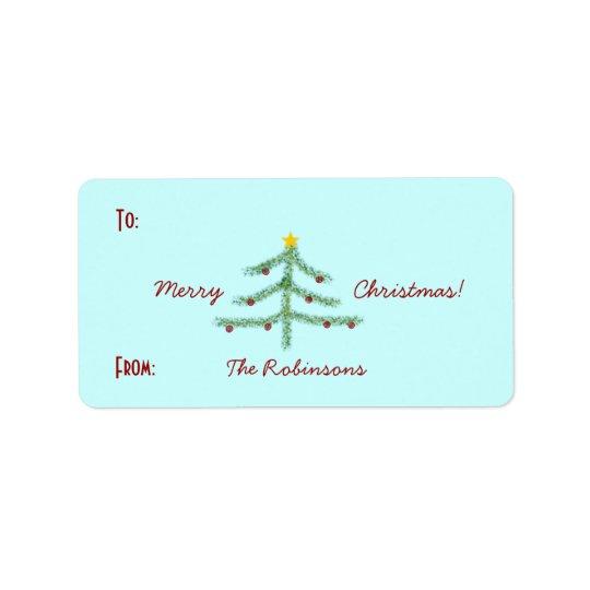 Weihnachtsgeist-Geschenk-Aufkleber Adressetiketten
