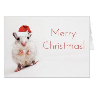 Weihnachtsgerbil-WeihnachtsmannmützeGerbils Karte