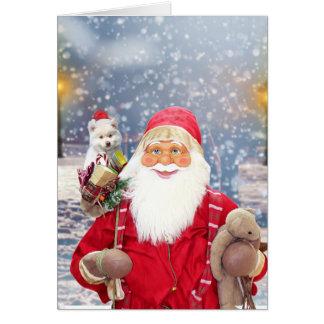 Weihnachtsgeschenk-amerikanischer Eskimohund Karte