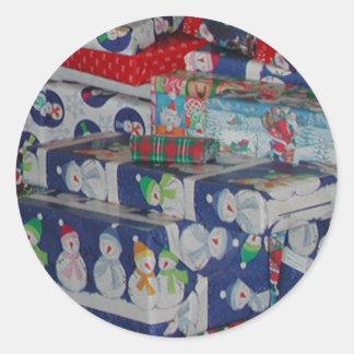 Weihnachtsgeschenk-Aufkleber durch Janz Runder Aufkleber
