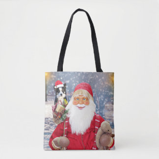 Weihnachtsgeschenk-Border-Collie-Hund Tasche