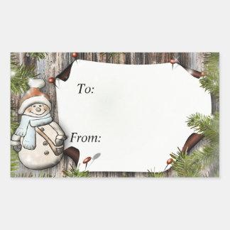 Weihnachtsgeschenk nach und von Aufklebern Rechteckiger Aufkleber