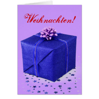 Weihnachtsgeschenke Weihnachten Blau II Grußkarte