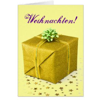 Weihnachtsgeschenke Weihnachten Gold III Grußkarte
